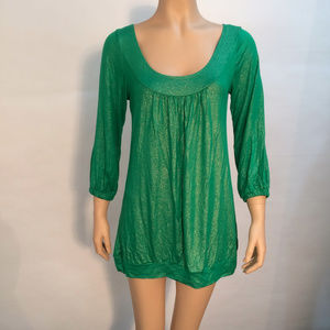 Urban Outfitters Woman's Glitter Dress Green Med